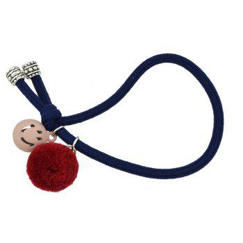 Candy Color Rope Smile Face Headbands - ROYAL BLUE