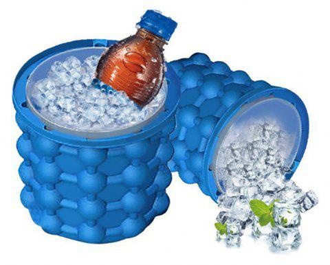 Silicone Ice Bucket Saving Cube Maker - BLUE