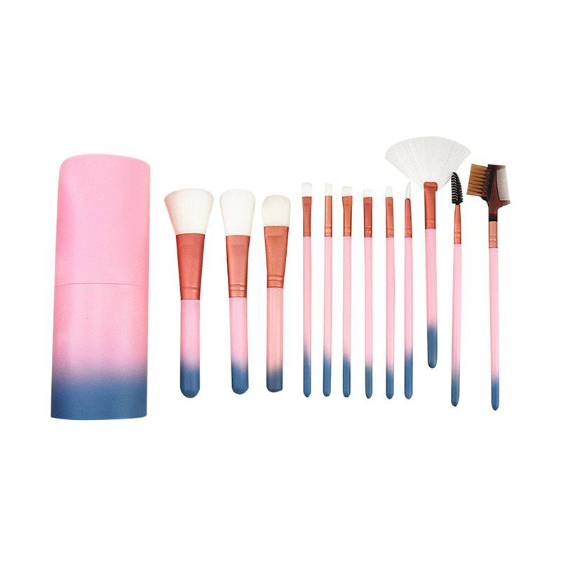 12pcs Cosmetic Brushes Women Lip Face Eye Makeup Brush Sets with Container 10 20 50 100pcs gold square empty lipstick pipe shell diy lip balm tube cosmetic makeup packaging container for lip rouge mouth