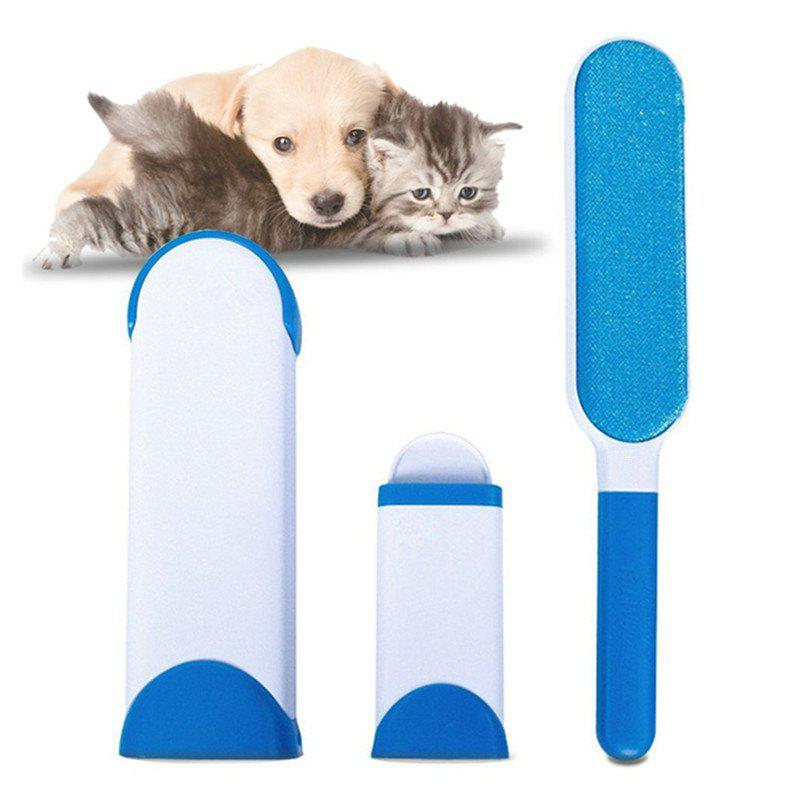 Pet Hair Remover with Self-Cleaning Base Double-Side Lint Brush for Dog Cat pet teeth cleaning silicone five pointed star toy for dog deep pink