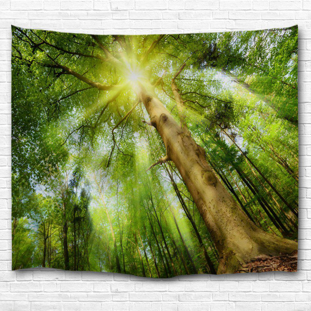 Big Tree Sunlight 3D Printing Home Wall Hanging Tapestry for Decoration