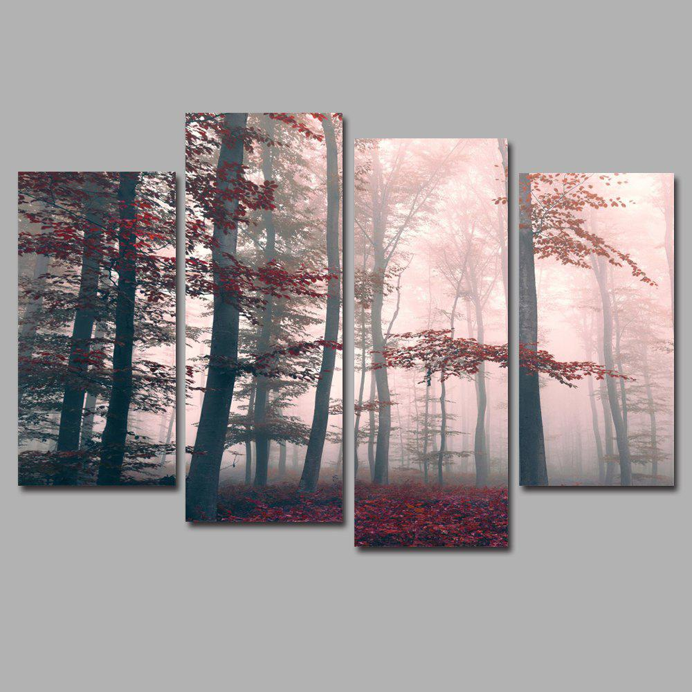 Mysterious Forest Frameless Printed Canvas Wall Art Paintings 4PCS sunset frameless printed canvas wall art paintings 4pcs