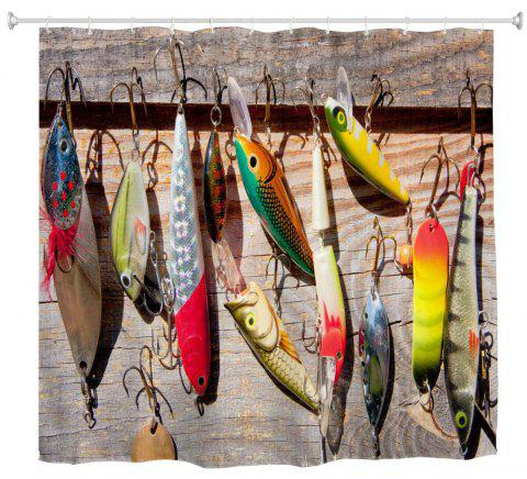 Fishing Bait Water Proof Polyester 3D Printing Bathroom Shower Curtain
