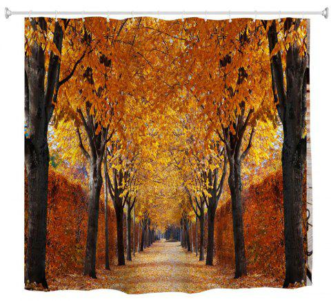 Autumn Leaves Water Proof Polyester 3D Printing Bathroom Shower Curtain