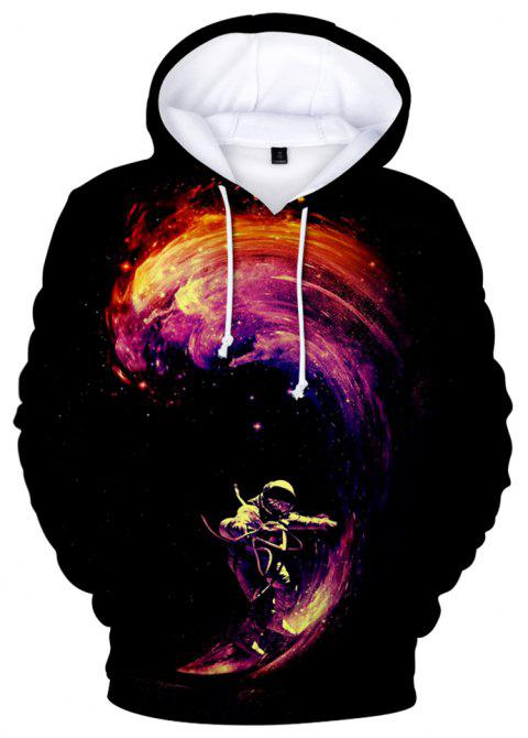 2018 New Space Surfing Printed 3D Hoodie - multicolor A 2XL
