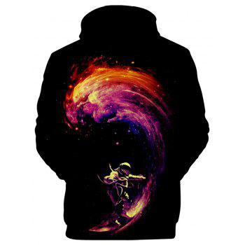 2018 New Space Surfing Printed 3D Hoodie - multicolor A M
