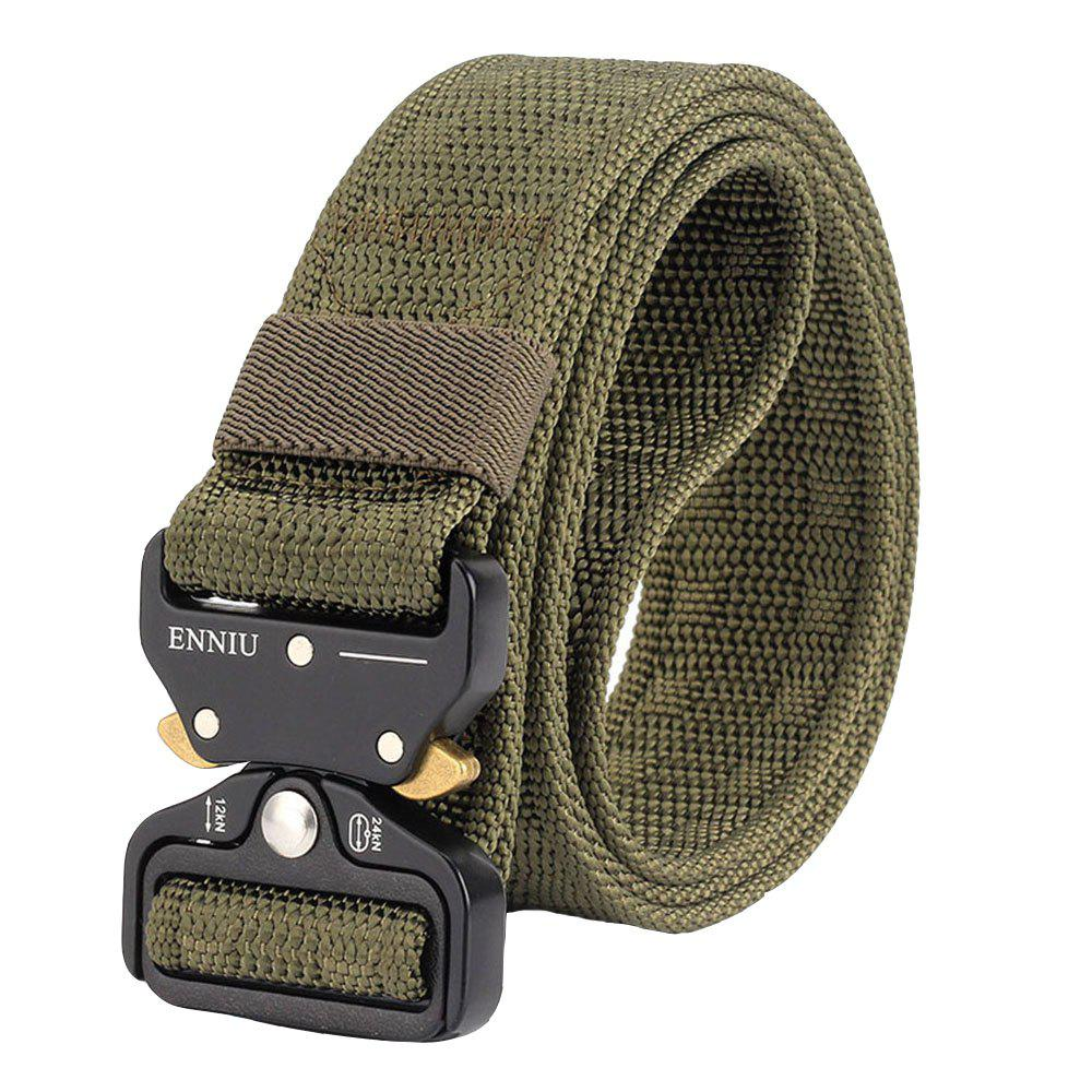 ENNIU Adjustable Multi-function Nylon Tactical Military Weavin Belt - ARMY GREEN