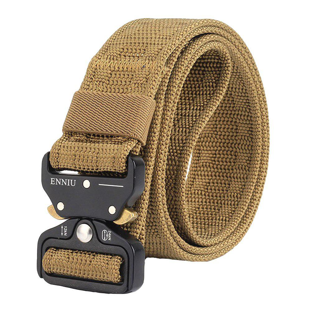 ENNIU Adjustable Multi-function Nylon Tactical Military Weavin Belt - LIGHT BROWN