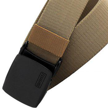 ENNIU Adjustable Multi-function Tactical Military Elastic Black Alloy Clasp Belt - LIGHT BROWN