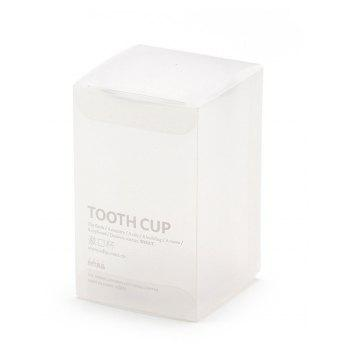 Bathroom Supplies Transparent Plastic Tooth Cup - TRANSPARENT 6.5X10.5CM