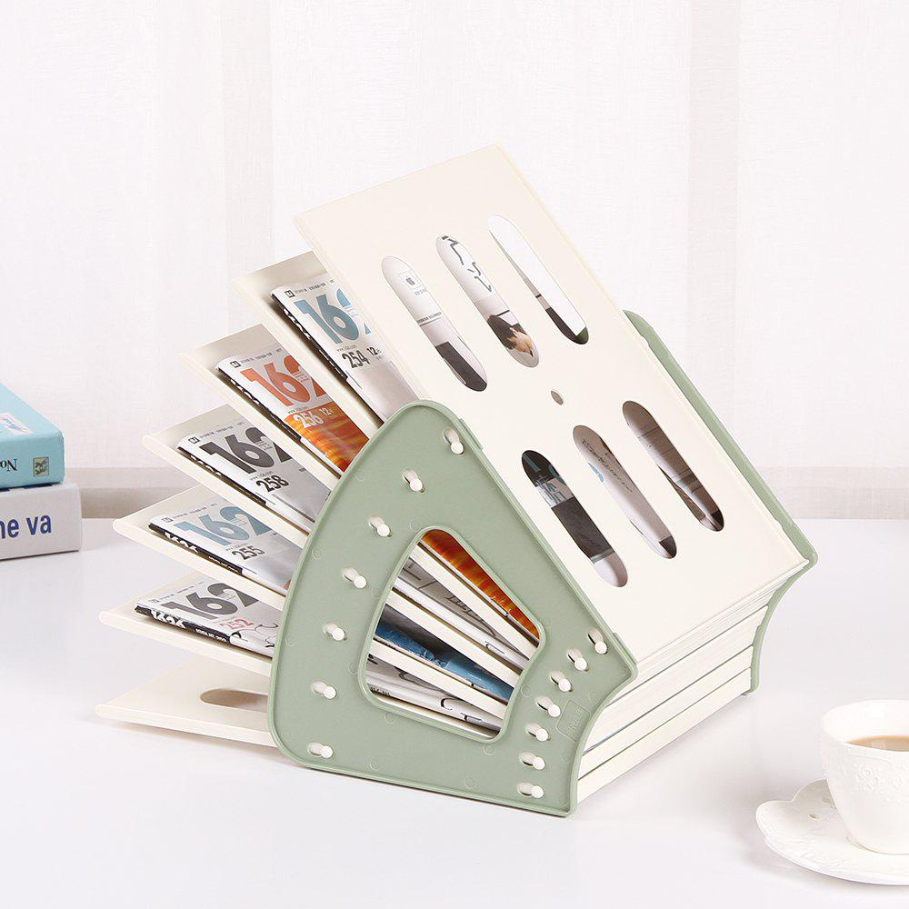 Household Plastic Book Document Magazine Organizer