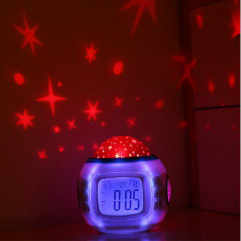 Creative Star Electronic Projection Alarm Clock Decorative Lights - WHITE