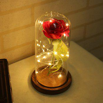 Creative with Copper Lamp Immortal Flower Glass Cover Decoration - BROWN