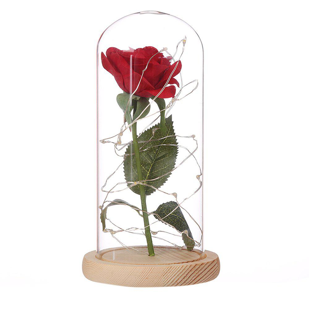 Creative with Copper Lamp Immortal Flower Glass Cover Decoration - BLANCHED ALMOND