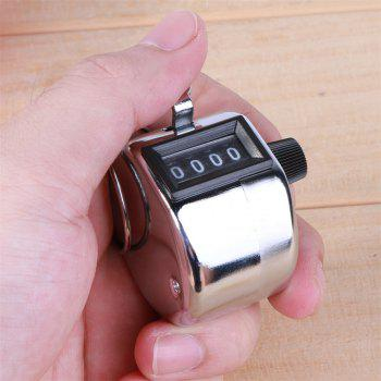 Mini Mechanical Metal Manual 4-DIGIT Counter - SILVER