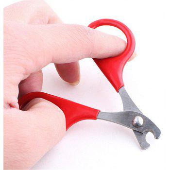 Stainless Steel Pet Cat Nail Scissors Puppy Grooming - RED
