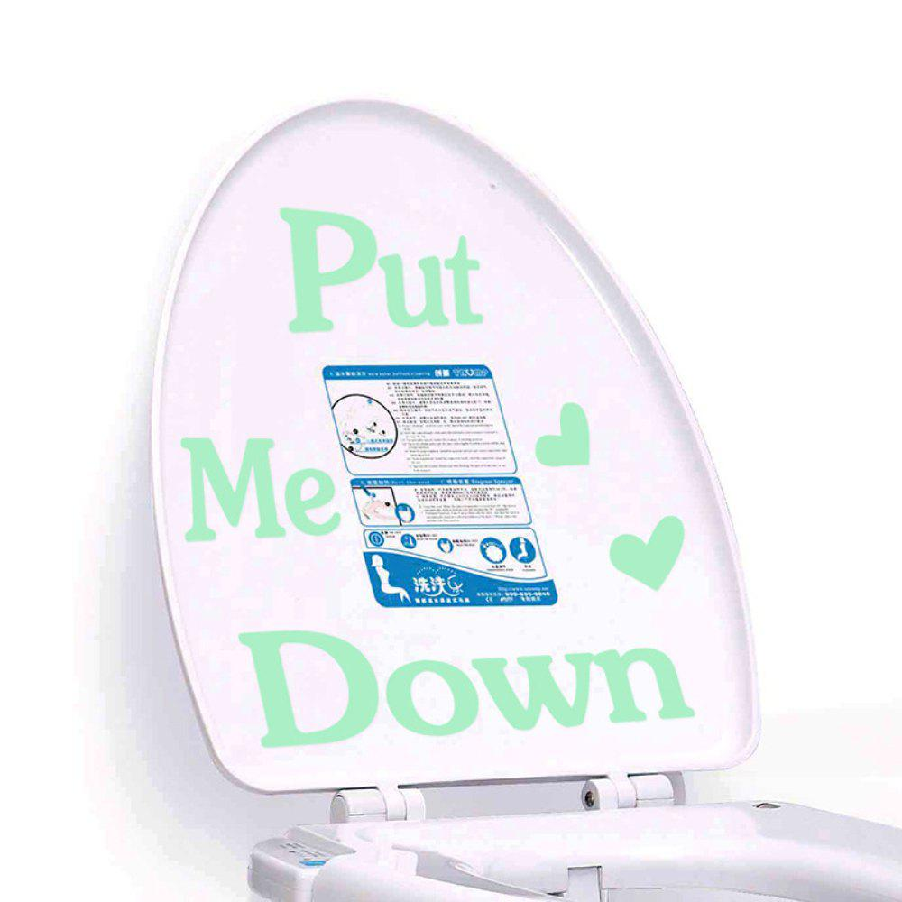 Put Me Down Noctilucent Toilet Sticker - MINT GREEN