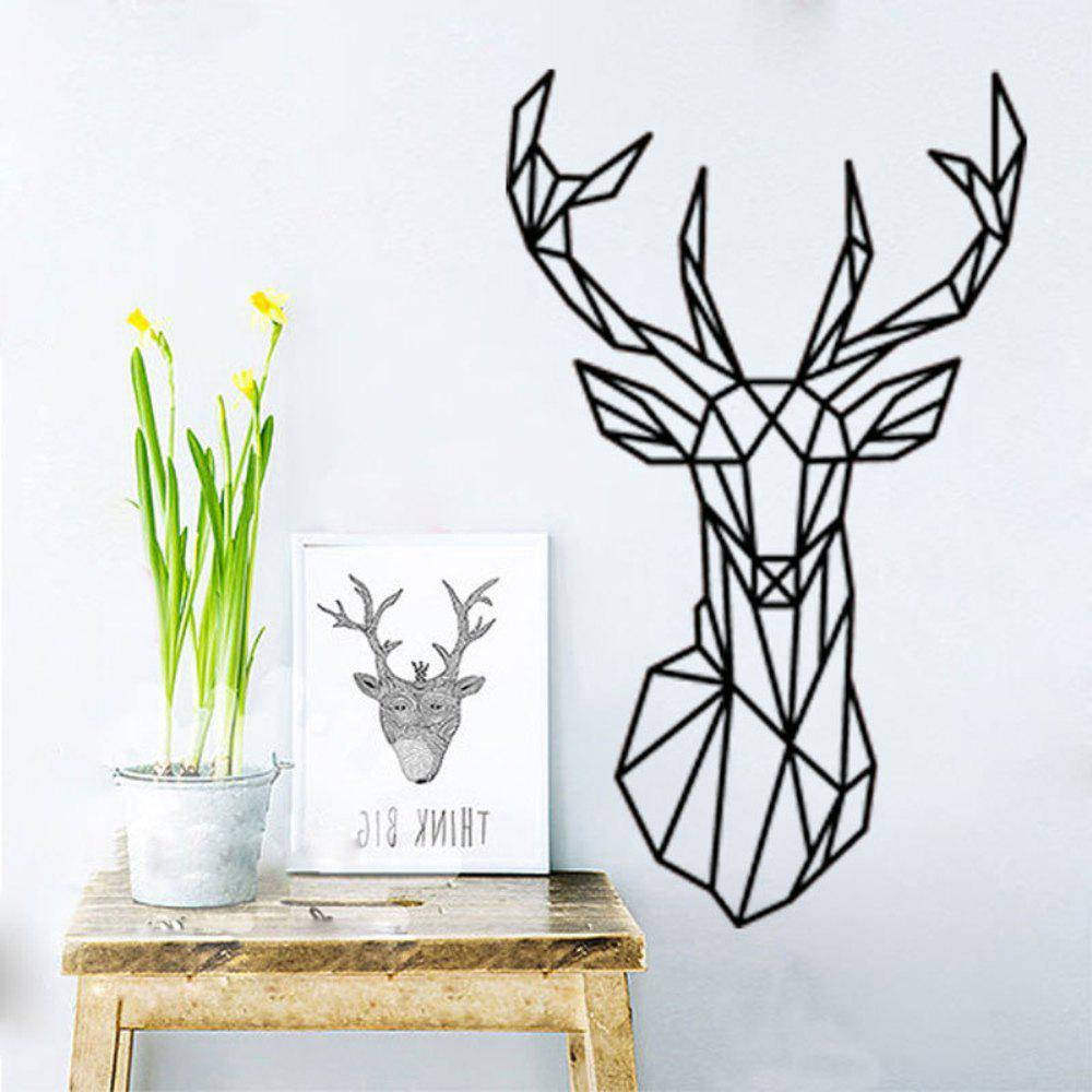 Geometric Deer Head Animal Wall Stickers Art and Fresh Living Room Bedroom Decor