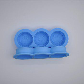 Mischievous Smile Silicone Ice Mold - GLACIAL BLUE ICE