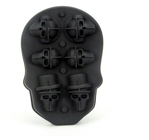 Silicone Ice Pattern 6 Skulls - BLACK