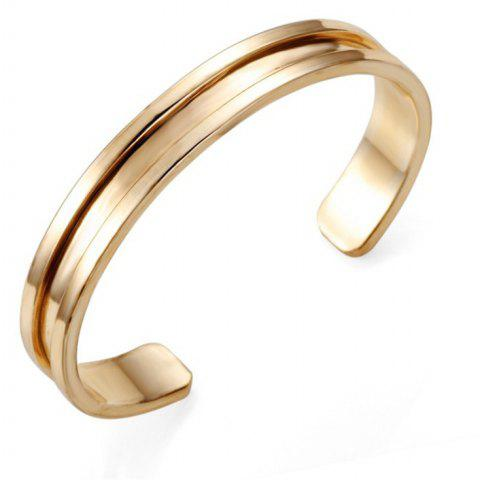 A Couple Alloy Open Bracelet - GOLD