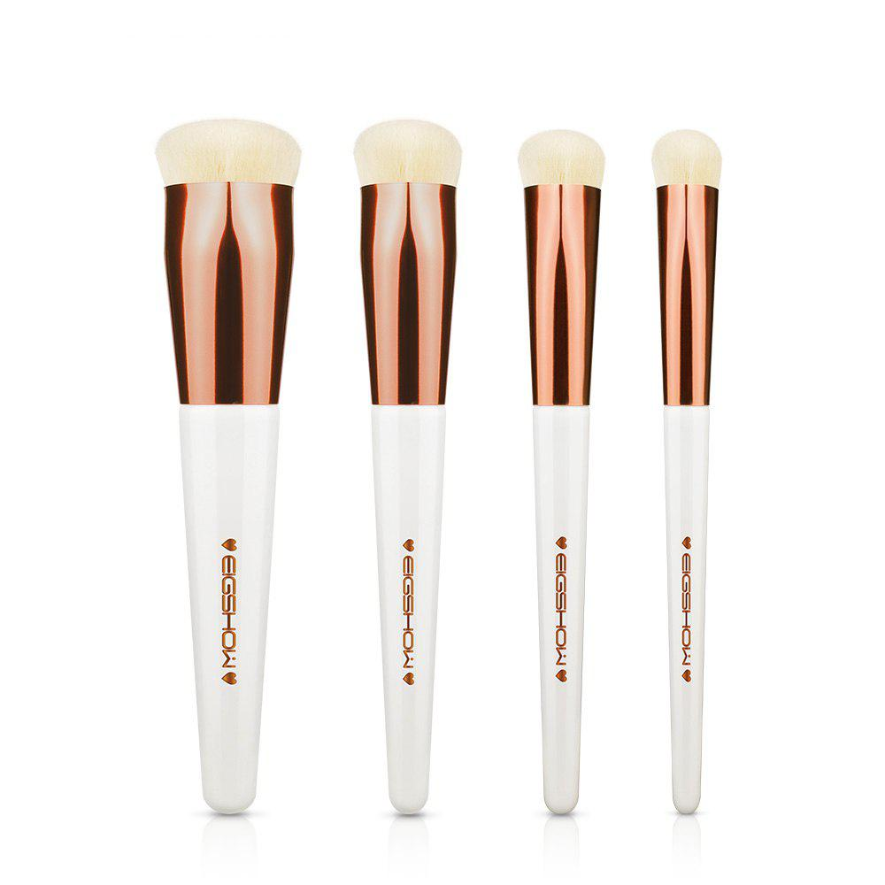 EIGSHOW 4PCS Makeup Set Heart Shape Foundation Brush Comestic Kit Champaign Gold