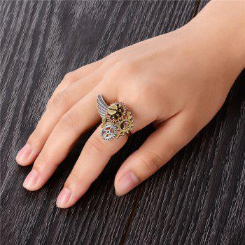 New Steampunk Opening Adjustable Gear Tripod Ring Jewelry - multicolor RESIZABLE