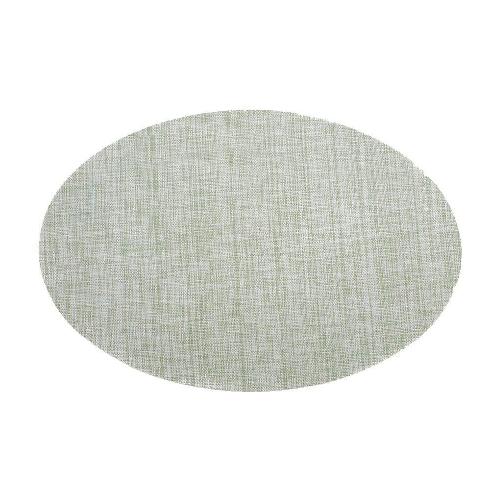 Oval Woven PVC Placemat for Heat Resistant Kitchen Tab