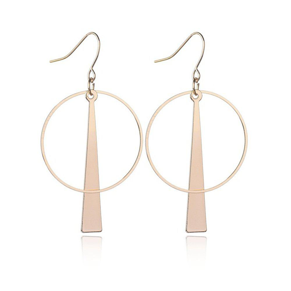 Creative Fashion Geometric Accessories Long Circle Personality Earrings