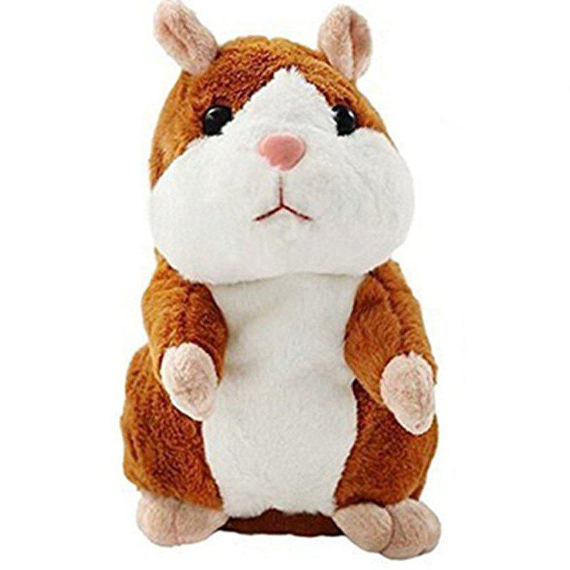 Talking Hamster Pet Plush Toy Repeat What You Say Educational Toy for Children - COPPER
