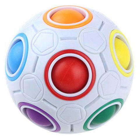 Creative Spherical Speed Rainbow Puzzles Ball Football Educational Learning - WHITE