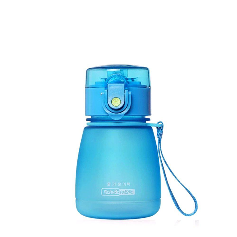 Creative Scrub Straw Portable Plastic Leakproof Cup - CRYSTAL BLUE
