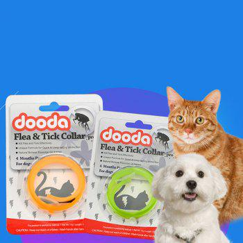 Cat Dog Pet Flea Prevention Deworming Collar - MANGO ORANGE SIZE S
