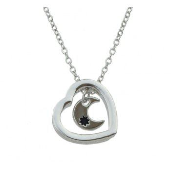 Silver Color Chain Charm Necklace - SILVER