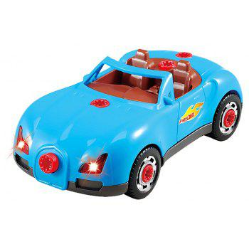 Children Drill Disassembling Toy Puzzle Assembled Cars - multicolor