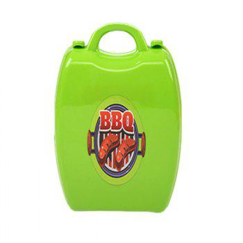 Simulation Mobile Barbecue Toolbox - GREEN APPLE