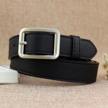 Fashion Simple Casual Side Buckle Belt - BLACK