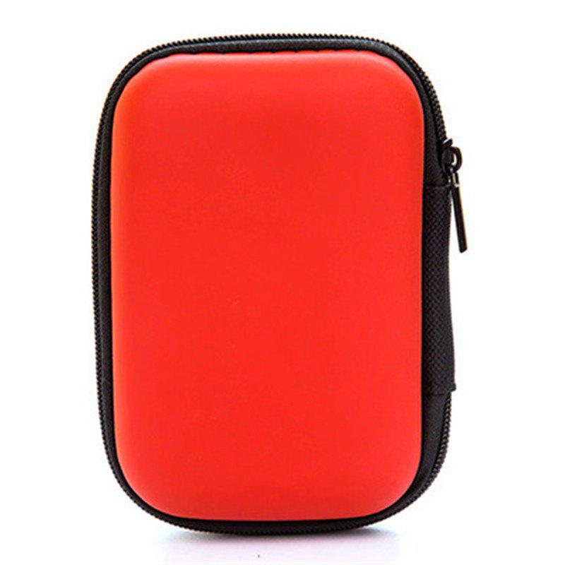 Headset Bluetooth Data Line Portable Storage Bag SD Card Protective Box - ORANGE