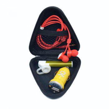 Data Cable Headphone Package Bag Card Protective Triangle Box - BLACK
