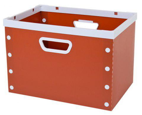 DIY Can Overlay Cartoon Plastic Coverless Desktop Storage Consolidation Box - CHERRY RED SIZE L