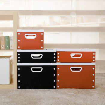 DIY Can Overlay Cartoon Plastic Coverless Desktop Storage Consolidation Box - CHERRY RED SIZE M