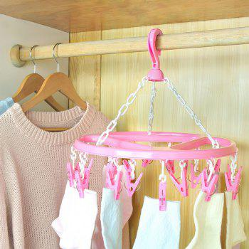 18 Socks Underwear Plastic Children's Clothing Clothing Storage Rack - CARNATION PINK 34.5X20CM