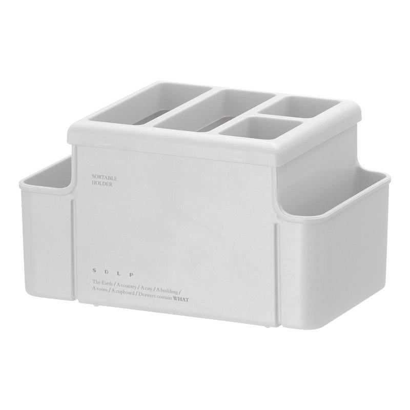Office Desk Multifunction Stationery Insert Box Plastic Multi-Pen Holder