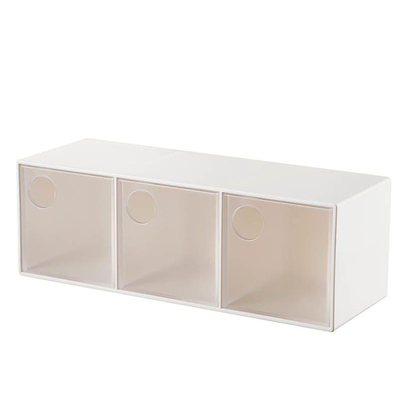 Three Drawer Desktop Plastic Storage Boxes plastic clear a6 three tiers acrylic brochure literature leaflet display holders racks stands on desktop 2pcs good packing