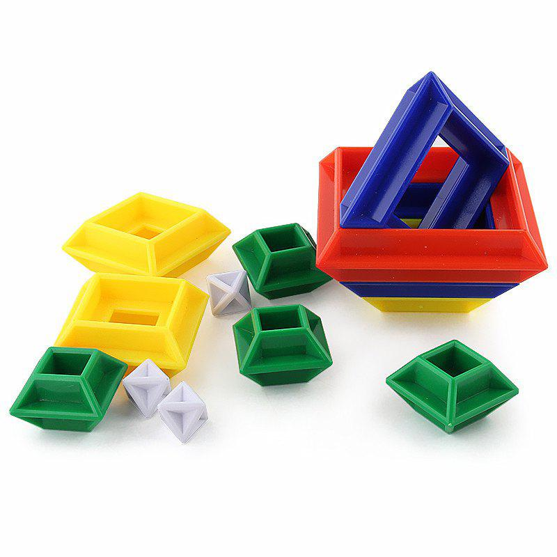 New Creative Changeable Puzzle Rubik Building Block Toy - multicolor A
