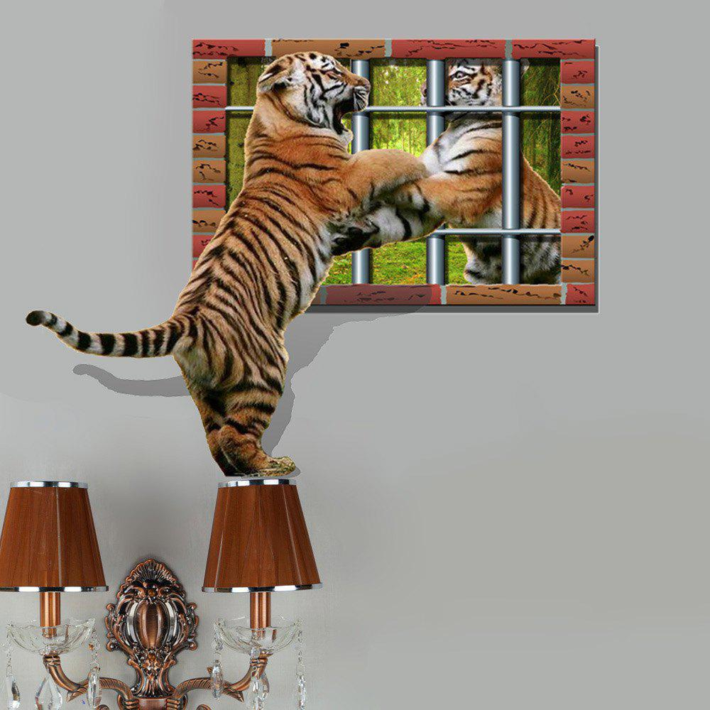 3D Tiger Personality Creative Removable Wall Sticker 3d polar bear personality creative removable wall sticker
