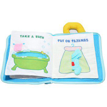 Cubical Cloth Book Puzzle Early Education - BUTTERFLY BLUE