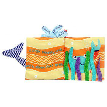 Ocean World Whale Cloth Book Baby Early Childhood Education - multicolor A