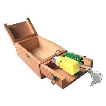 Wooden Useless Box Toy - BROWN