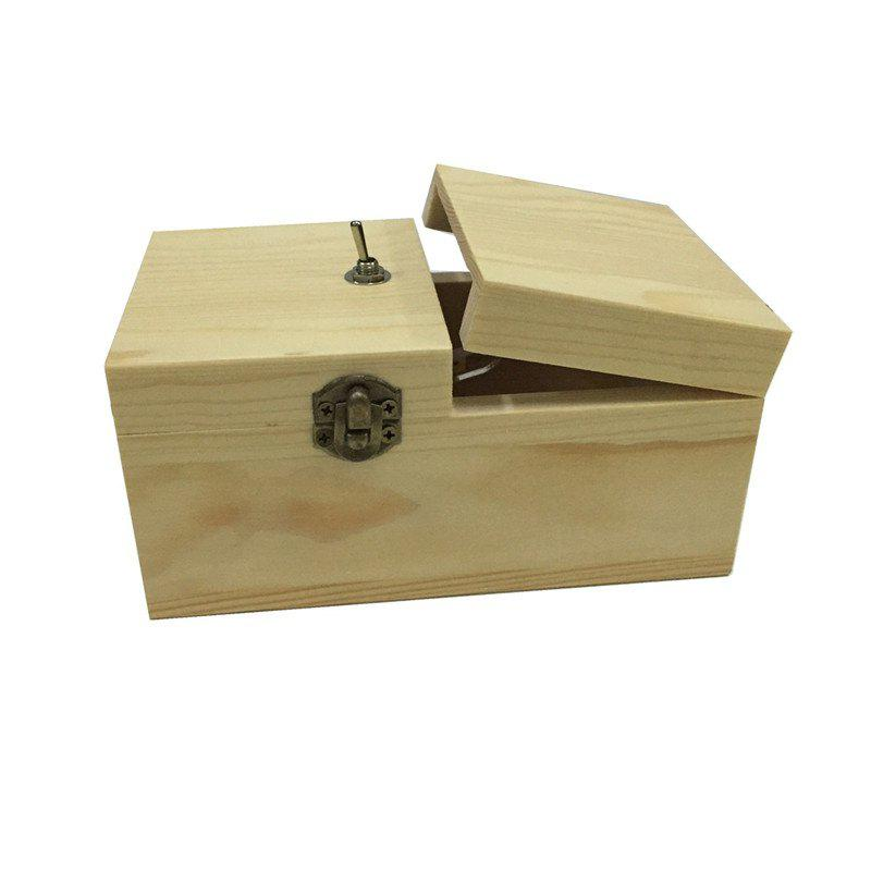 Wooden Useless Box Toy - WARM WHITE